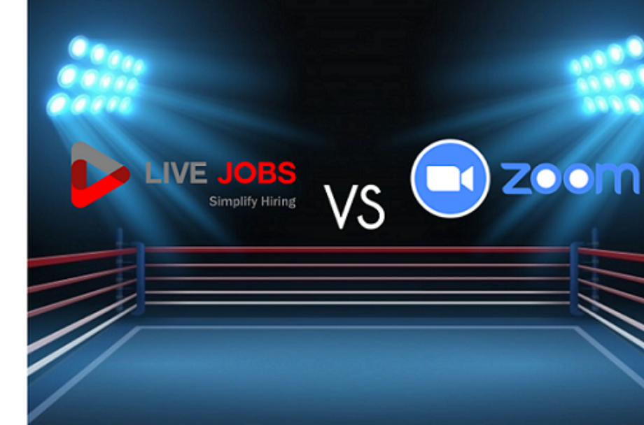 Live Jobs - Video Interview Software VS Zoom