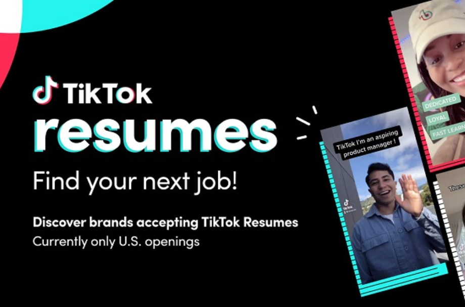 TikTok entra no mundo do recrutamento com currículos em vídeo